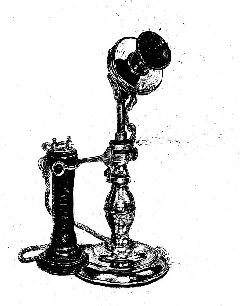 Upright Telephone from 1895 Western Electric no 3A
