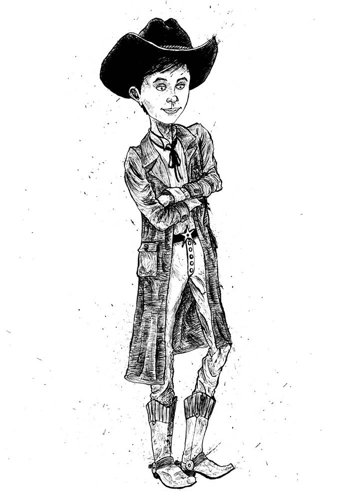 Cowboy child character