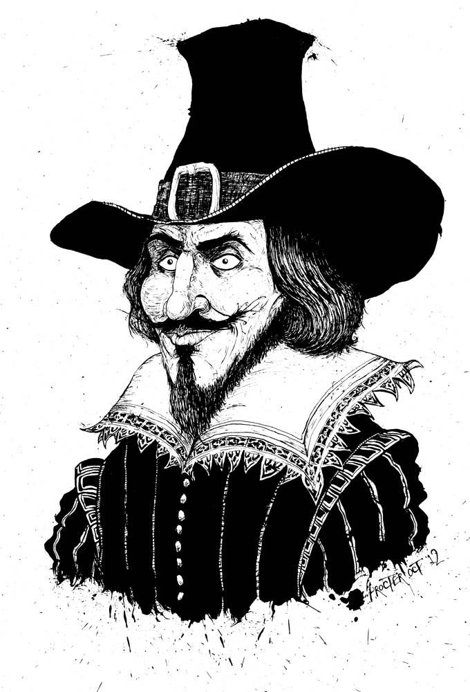 Guido Guy Fawkes caricature