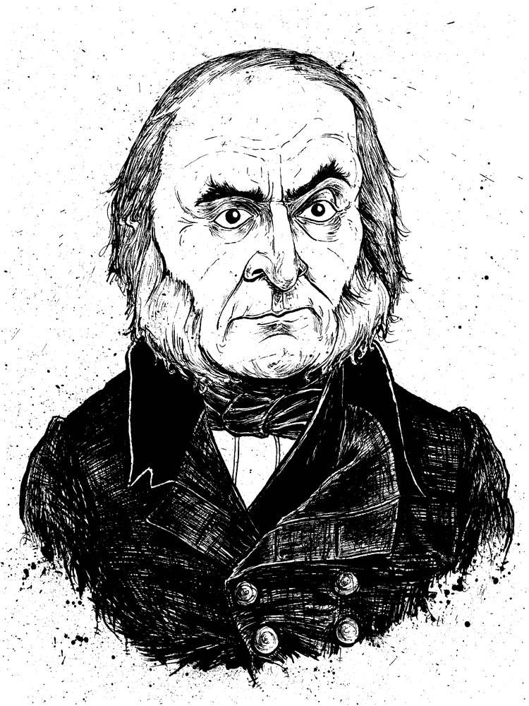caricature of the 6th President of the USA John Quincy Adams